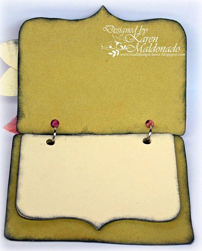 3D Punch Flower - Mini Notes Booklet, open show pages_402p