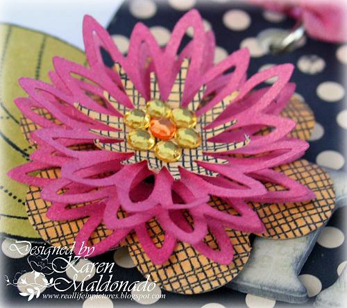 3D Punch Flower - Mini Notes Booklet, closeup flower 2_500p