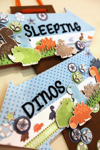Dinos sleeping