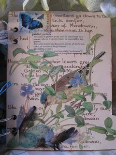 Mandy collins helmar altered book cover