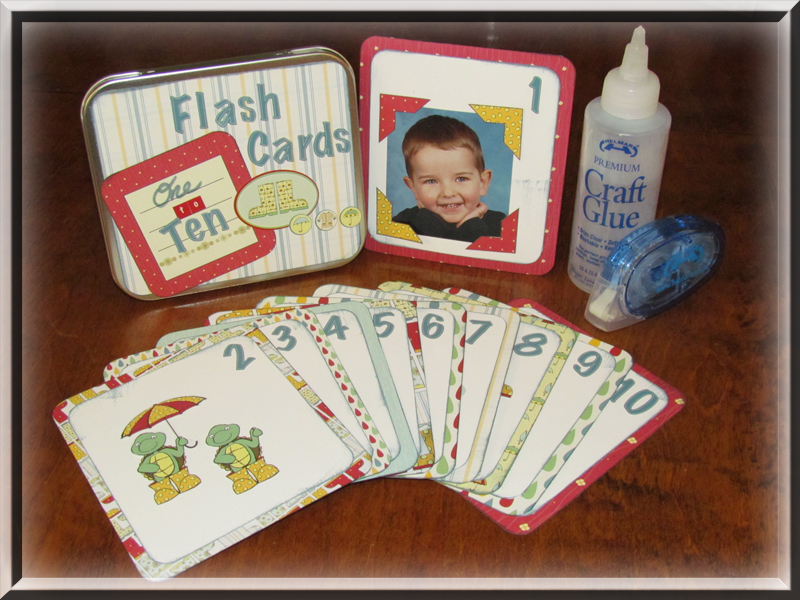 Flash Cards Tin and adhesive