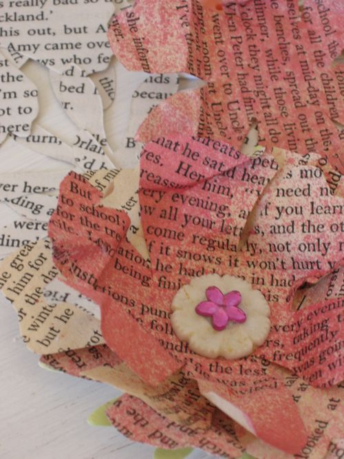 Mandy collins mixed media flower tutorial