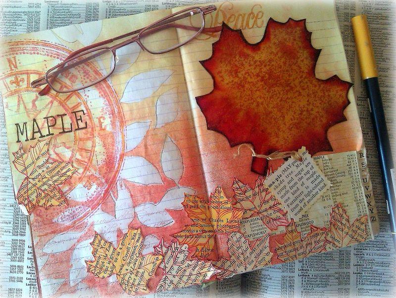 Mandy collins helmar art journal