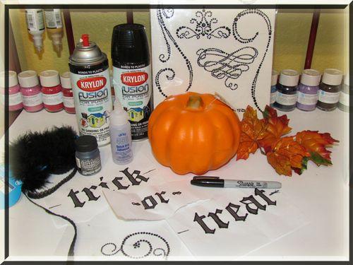 Supplies for white pumpkins
