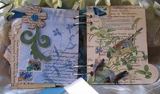 Mandy collins altered book helmar glues