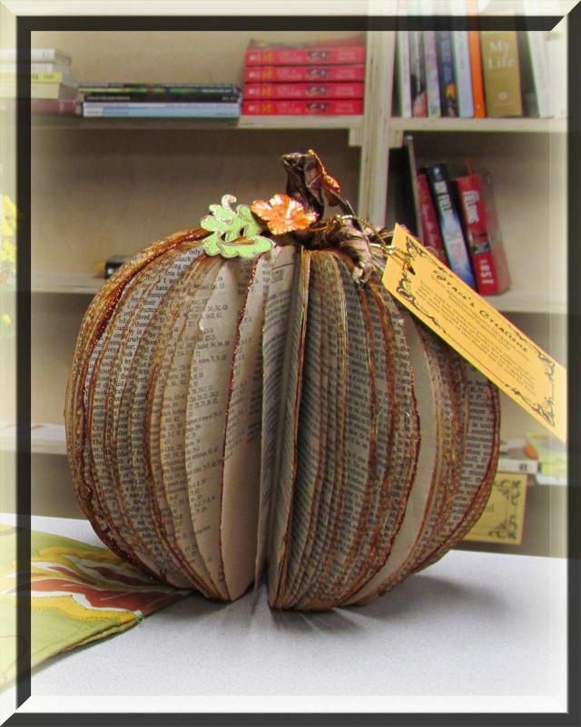 Book Pumpkin #1
