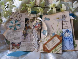 Mandy collins altered book with helmar