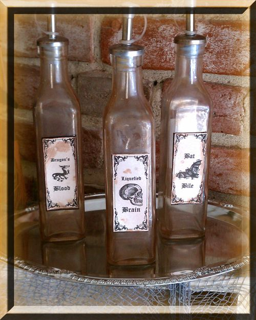 Potion ingredient bottles set of 3