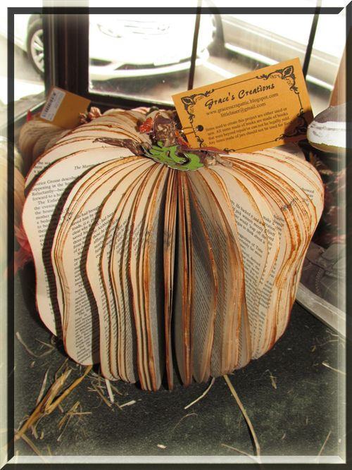 Book Pumpkin #4 tall and concave sides