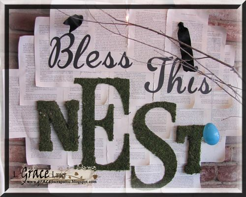 Bless this nest wall art_L Grace Lauer_Helmar 450 Acid Free