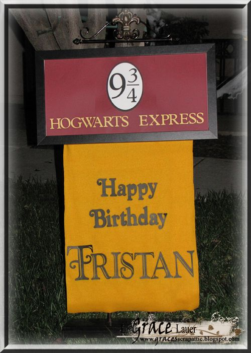 Harry Potter Birthday Sign
