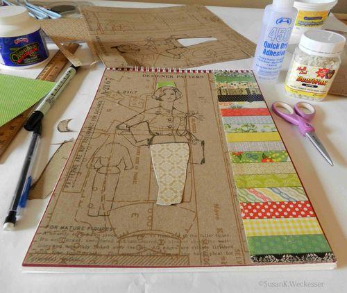 Altered sketch book-Susan Weckesser