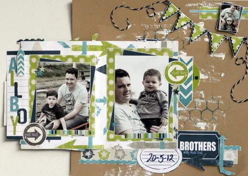 Brothers with their dad layout expanded