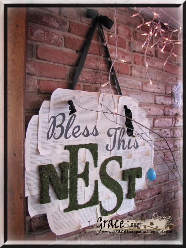 Bless this nest wall art