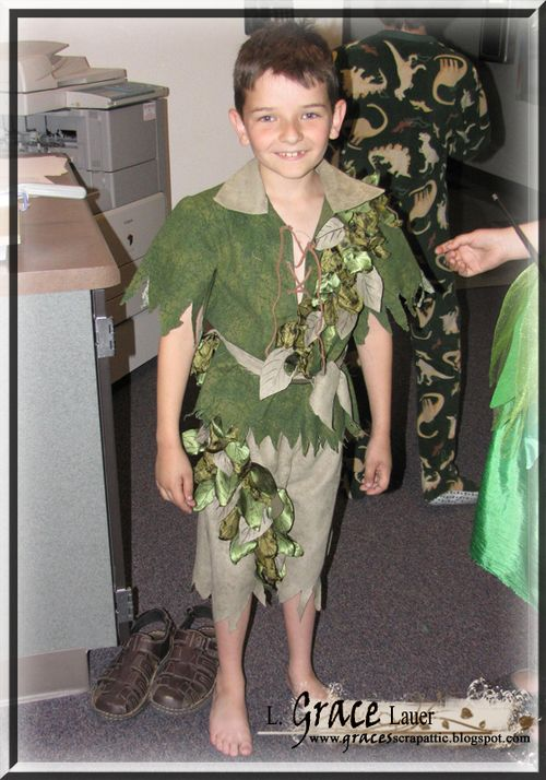 Peter pan costume back stage