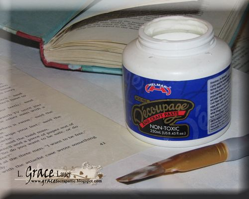 Helmar Gesso Faber Castell Crayon Canvas Readers are leaders Decoupage book pages