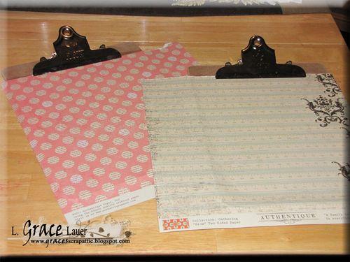Clipboard and decoupage step 2 Helmar L Grace Lauer