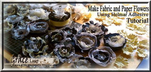Fabric Flowers for a Special Wedding using Helmar Glue