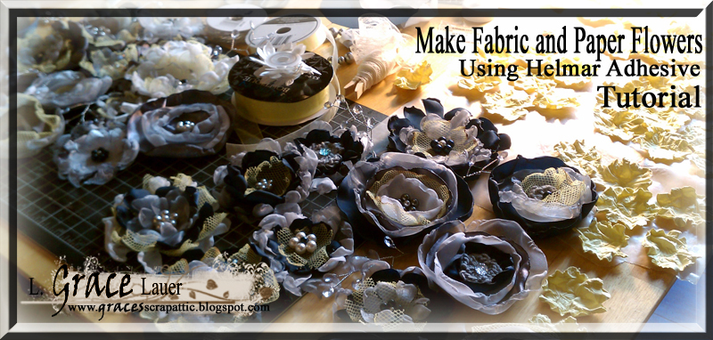 Make Fabric and Paper Flowers Tutorial Header image