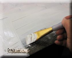 Helmar Gesso Faber Castell Crayon Canvas Readers are leaders first layer of gesso