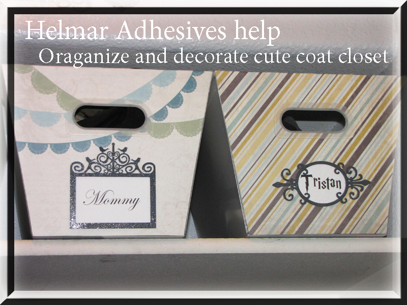 Helmar Covers plastic boxs with DCWV papers and pinwheel decor blog titile
