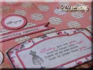 Clipboard and decoupage teacher gift authentique uncommon paper Helmar L Grace Lauer close up