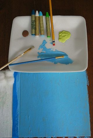 Lisa-Wilkinson-day-three-paint-oil-crayons-pencils-crafts