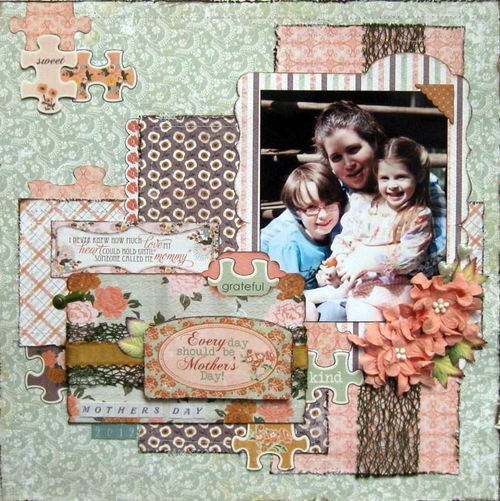 mother s day scrapbook page with helmar and authentique helmar