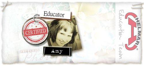 Amy educator badge