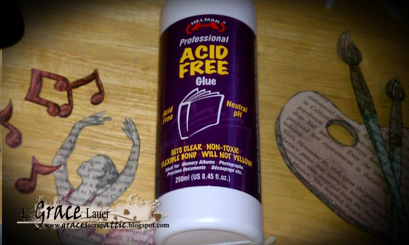 Chalkboard plaque helmar Grace Lauer Step 4 Acid Free Glue