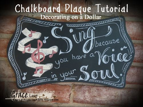 Sing Voice Soul chalkboard plaque book art Grace lauer Helmar blog header title image