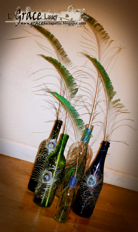 Peacock-wine-bottle-upcycle-helmar-grace-lauer-glass-paint