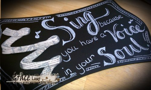Chalkboard plaque helmar Grace Lauer Step 5