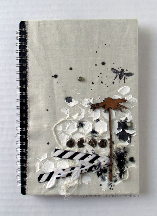 DeeDee Catron - Altered Planner With Helmar Fabric Glue