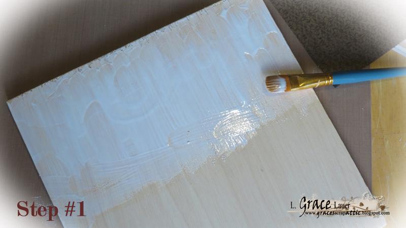 Scrapbook Paper Panel Helmar Step 1 Grace Lauer