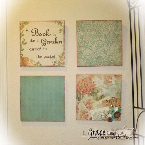 12 x 12 Scrapbook Paper decorative panels Helmar Acid Free Glue L Grace Lauer