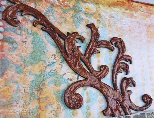 Sat A Lifetime is . . . for Helmar ~ Tracey Sabella gracescraps.blogspot.com Close-up Top Flourish