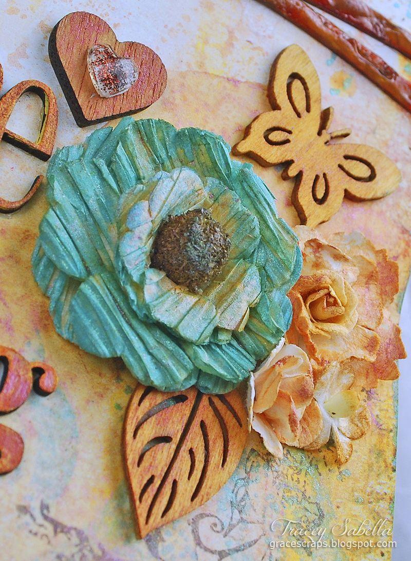 Sat A Lifetime is . . . for Helmar ~ Tracey Sabella gracescraps.blogspot.com Close-up Right Cluster