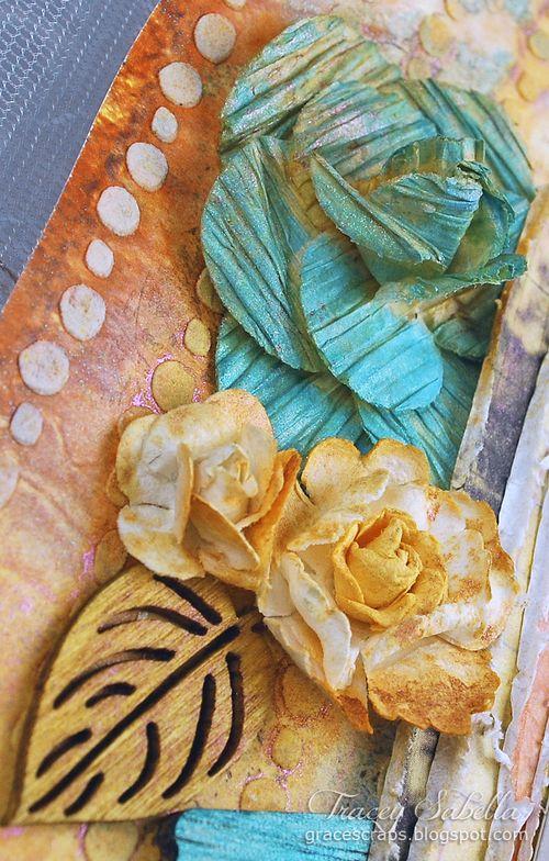 Sat Lifetime is . . . for Helmar ~ Tracey Sabella gracescraps.blogspot.com Close-up Left Cluster