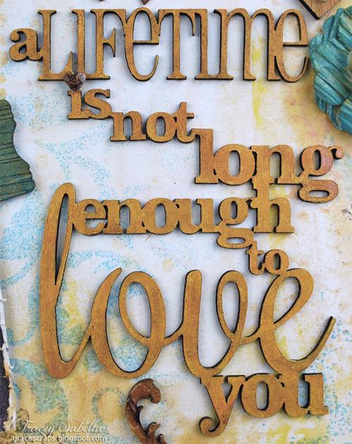 Sat A Lifetime is . . . for Helmar ~ Tracey Sabella gracescraps.blogspot.com Close-up Title