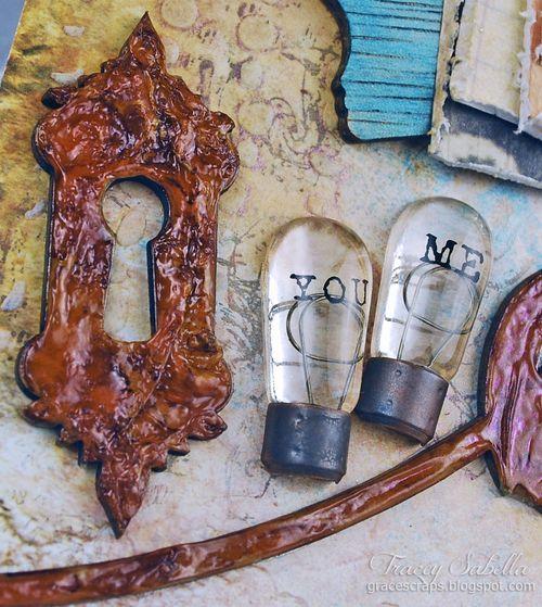 Sat A Lifetime is . . . for Helmar ~ Tracey Sabella gracescraps.blogspot.com Close-up Key Hole