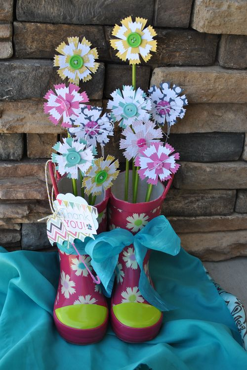 Flower wellies
