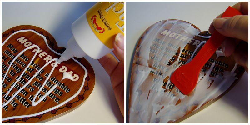 Helmar Tacky Glue step 1