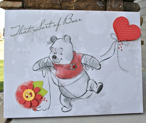 Pooh canvas finished