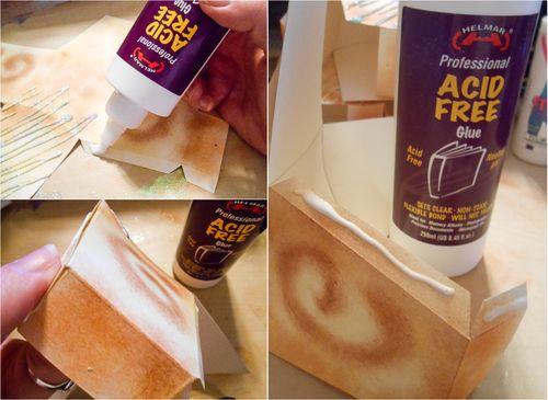 Jvanderbeek_helmar_kingcake_pillowbox_acidfreeglue_adhesive