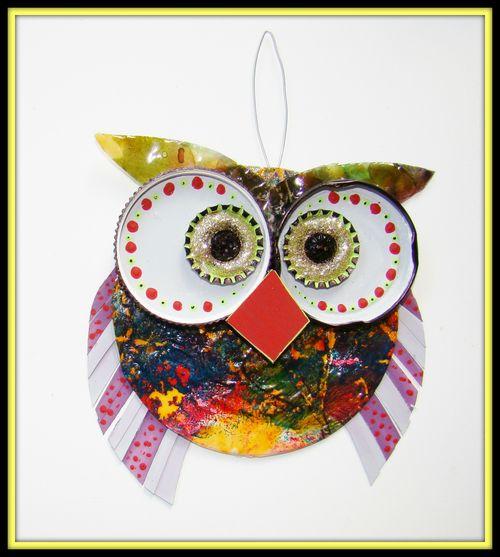 Garden Art Owl by sandee setliff