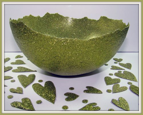 Glitter bowl for Helmar by Sandee Setliff