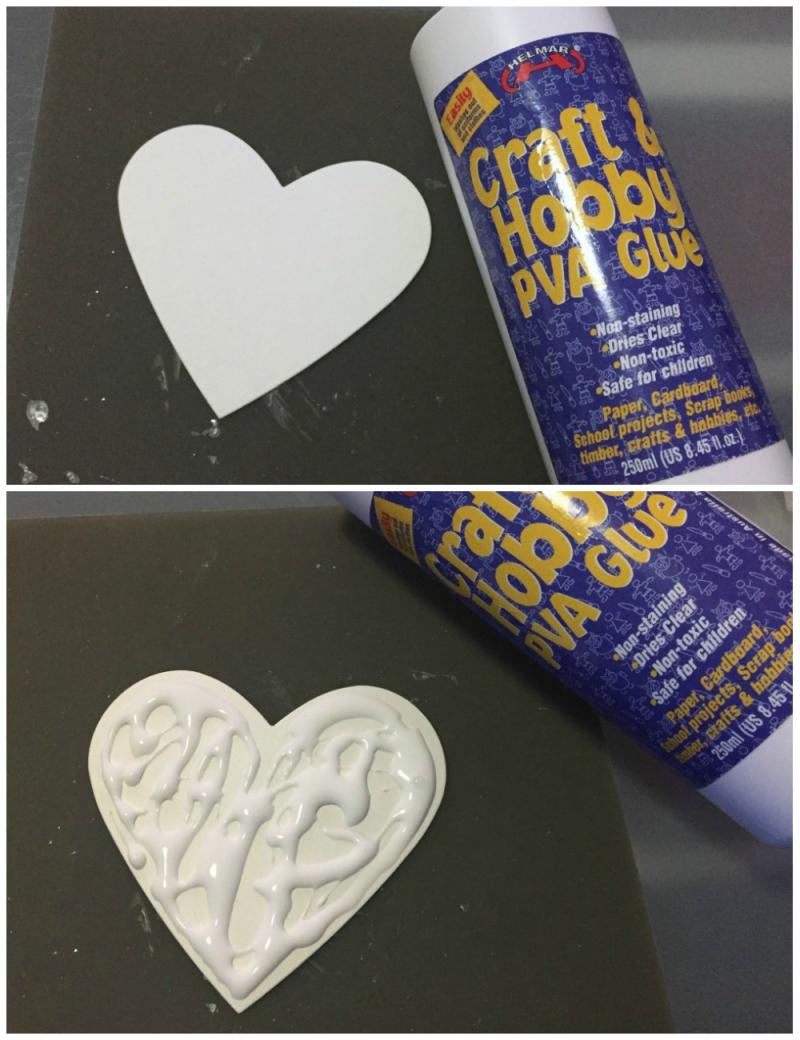 Heart glue Collage