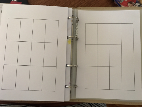 Blank planner page