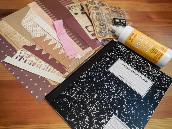 Jvanderbeek_helmar_compositionbook_alteredcover_supplies_tackycraftglue